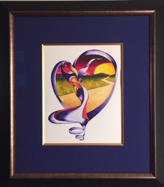 Follow YOur Heart framed